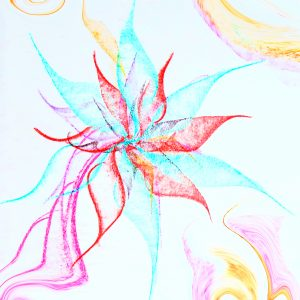 I Am Flower - I Am Art by Melania Adony
